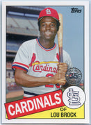 2020 Topps Update Series Lou Brock Retro 1985 #85TB-43
