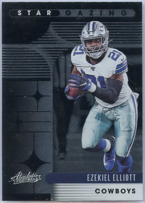 2020 Absolute Football Ezekiel Elliott STAR GAZING RZ-EE Card Cowboys