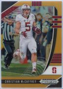 50/149 Christian McCaffrey Gold PRIZM card #17 2020 Prizm Draft Picks running back Stanford