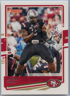 2020 Donruss Football Javon Kinlaw Rookie Card #265 49ers