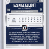 2018 Donruss Football Ezekiel Elliott #76 Dallas Cowboys card