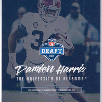Damien Harris RC Auto 2019 Panini Luminance Gold Rookie Ink card New England Patriots