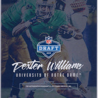 2019 Panini Luminace #RI-DW Dexter Williams auto Notre Dame - Green Bay Packers