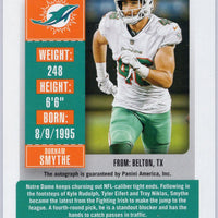 2018 Panini Contenders Football #316 Durham Smythe RC Auto Miami Dolphins