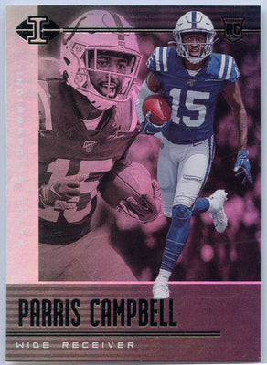 Parris Campbell Rookie Card #76 2020 Illusions Football Colts WR
