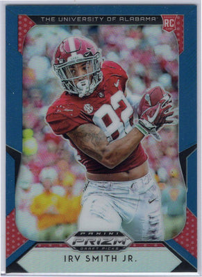 Irv Smith Jr. Rookie Card Blue and Red variation 2019 Prizm Draft Picks No. 125