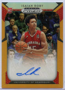 022/125 Orange Isaiah Roby Autograph Rookie Card #45 2019 Panini Prizm Draft Picks Nebraska