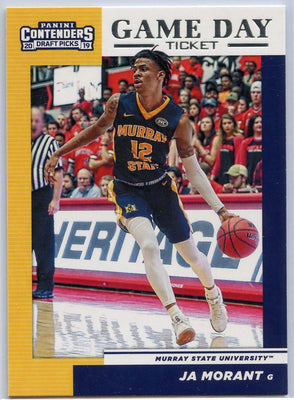Ja Morant Game Day Ticket rookie card 2019 Contenders Draft Picks No. 2