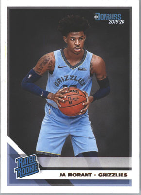 Ja Morant Rated Rookie #202 Card 2019-20 Donruss Basketball Grizzlies star guard