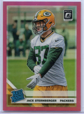 Jace Sternberger Pink Prizm RATED ROOKIE Card #198 Donruss Optic Football Green Bay Packers TE