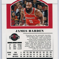 2019 Panini Contenders Draft Picks #18 James Harden Draft Ticket card