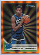 Jarrett Culver Holo Orange Laser Rated Rookie Card #205 2019-20 Donruss Basketball MN Timberwolves