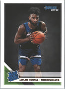 Jaylen Nowell Rated Rookie #240 Card 2019-20 Donruss Basketball Timberwolves