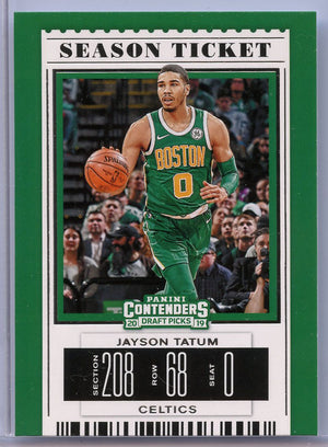 Jayson Tatum Season Ticket card 2019 Panini Contenders Draft Picks No. 20