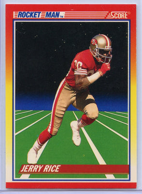 Jerry Rice Rocket Man Card #556 San Francisco 49ers 1990 Score football
