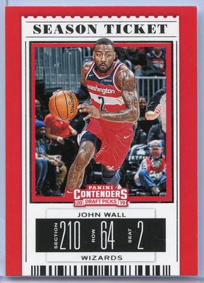 John Wall Season Ticket card No. 22 2019 Contenders Draft Picks