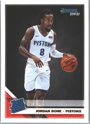 Jordan Bone 2019-20 Donruss Basketball Rated Rookie card #246