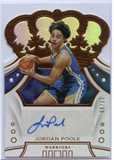 27/99 Jordan Poole Autograph Rookie Card number CR-JPL 2019-20 Crown Royale Basketball Warriors