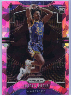 Jordan Poole Rookie Card Pink Cracked Ice #272 Golden State 2019-20 Prizm Basketball