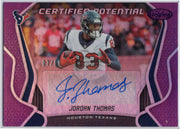 07/10 Jordan Thomas Auto 2019 Certified Football Houston Texans