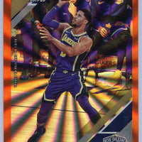 Josh Hart Orange Holo Laser 2019-20 Panini Donruss Basketball card #128 Pelicans Shooting Guard