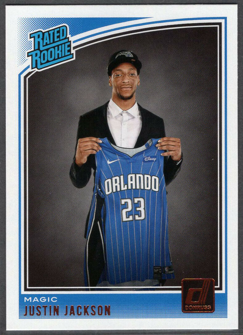 Justin Jackson 2018-19 Panini Donruss Basketball Rated Rookie No. 183 Orlando Magic