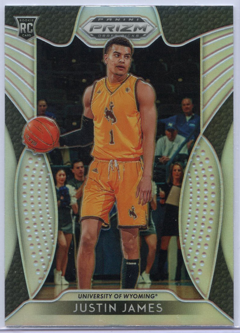 Justin James Rookie Card SILVER #39 2019 Prizm Draft Picks Wyoming