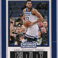 Karl-Anthony Towns Season Ticket Card Number 25