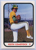 Keith Comstock card #6 1981 TCMA West Haven A's Pitcher Eastern League