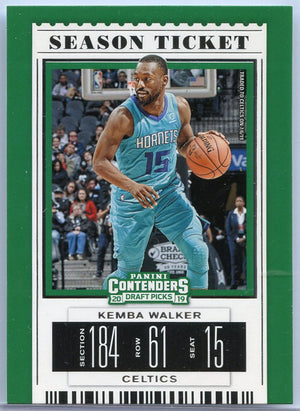 Kemba Walker Season Ticket Card number 27 Contenders Draft Picks 2019