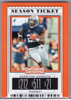 Kerryon Johnson 2019 Panini Contenders Draft Picks #59 Auburn Tigers card