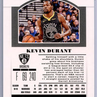 2019 Panini Contenders Draft Picks No. 28 Kevin Durant card Brooklyn Nets