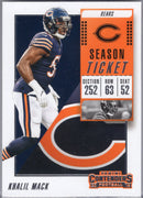 Khalil Mack 2018 Panini Contenders 324 Chicago Bears card