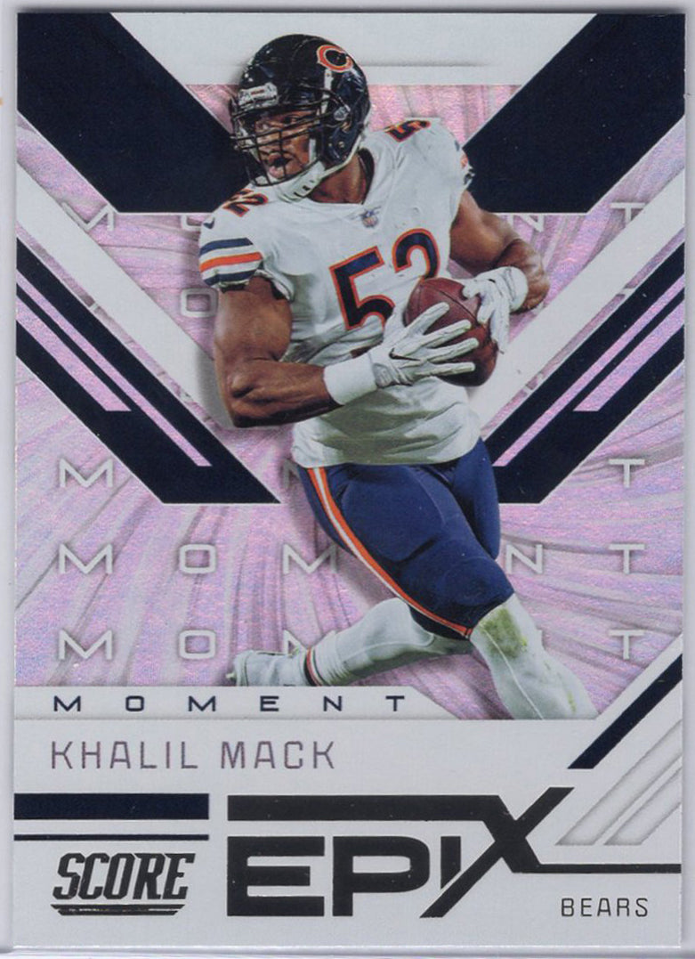 Khalil Mack 2019 Panini Score Football Epix EM-2 Chicago Bears card