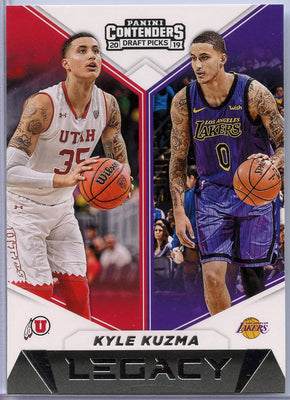 Kyle Kuzma Legacy card No. 27 Contenders Draft Picks 2019