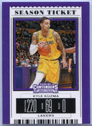 Kyle Kuzma Season Ticket card number 33 Panini Contenders Draft Picks 2019