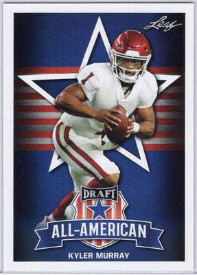 2019 Leaf Draft All-American Kyler Murray SP-KM2 Oklahoma Sooners Card