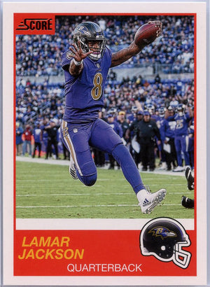 Lamar Jackson 2019 Score Football #83 Baltimore Ravens card