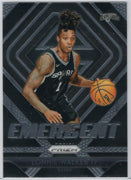 Lonnie Walker IV Emergent insert card 2018-19 Prizm Basketball No. 18