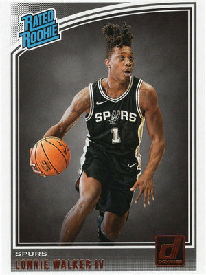 Lonnie Walker IV 2018-19 Panini Donruss Basketball Rated Rookie No. 174 San Antonio Spurs