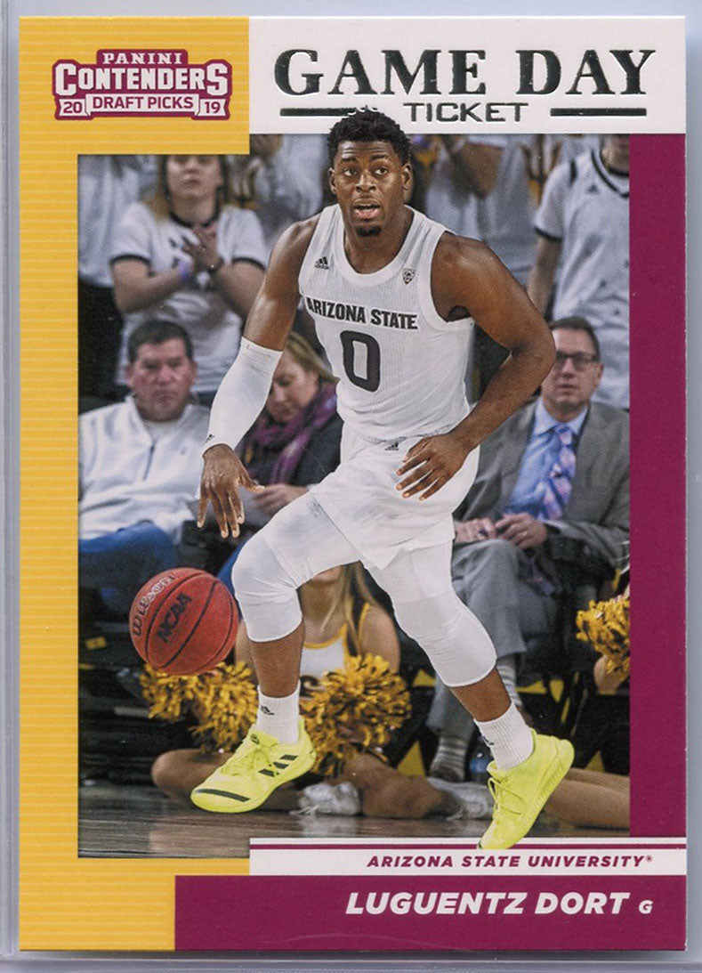 Luguentz Dort Game Day Ticket rookie card 2019 Contenders Draft Picks No. 27