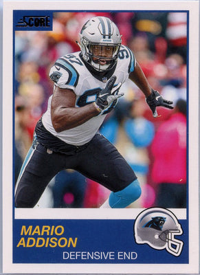 Mario Addison 2019 Score Football #262 card