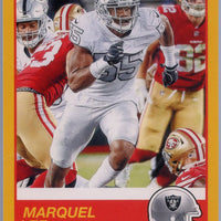 Marquel Lee gold parallel 2019 score football #41 Raiders card