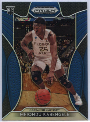 Mfiondu Kabengele Blue Rookie Card #27 FSU 2019 Prizm Draft Picks Basketball