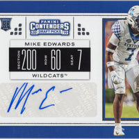 Mike Edwards rc auto 2019 Panini Contenders Draft Picks #299 Kentucky