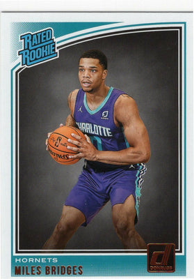 Miles Bridges 2018-19 Panini Donruss Basketball Rated Rookie No. 172