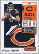 Mitchell Trubisky 2018 Panini Contenders #81 Bears card