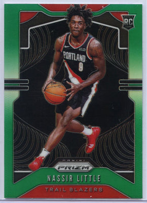 Nassir Little Rookie Card #269 Green 2019-20 Panini Prizm Basketball Trail Blazers small forward