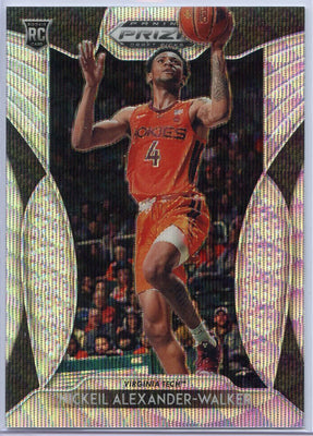 213/299 2019-20 Prizm Draft Picks Blue Wave Nickeil Alexander-Walker Rookie Card No. 82 Virginia Tech
