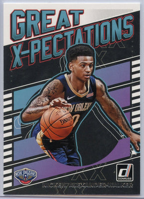 2019-20 Panini Donruss Basketball Nickeil Alexander-Walker Rookie Card Great X-Pectations #18 Pelicans